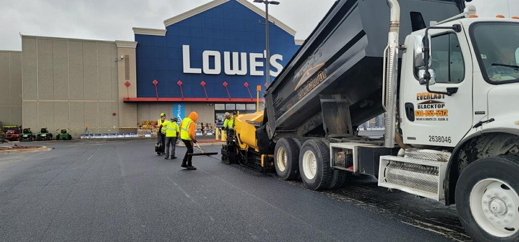 Asphalt Paving a Lowes Parking lot